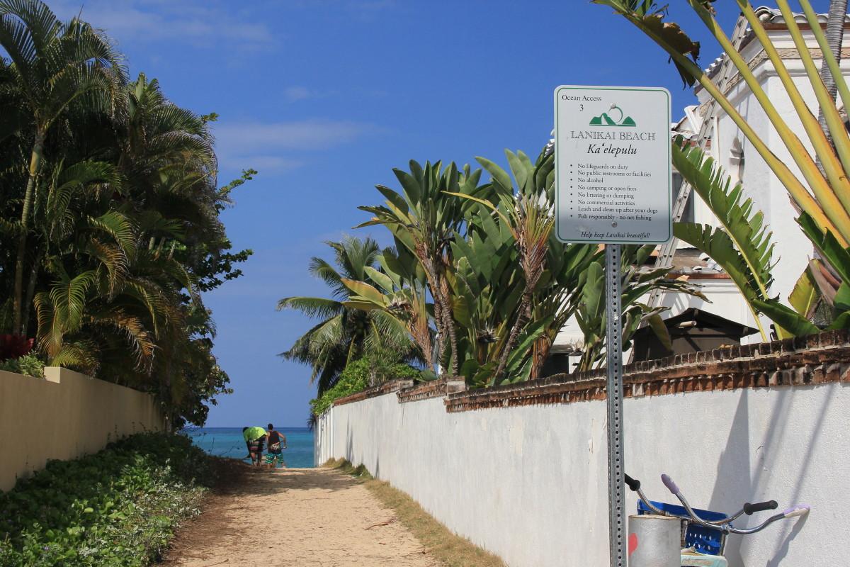 ラニカイビーチの入り口