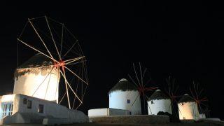 ギリシャ2/ミコノス島の夕焼けと夜景