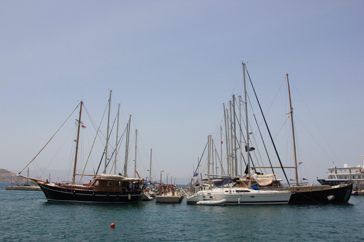 ナクソス島の港