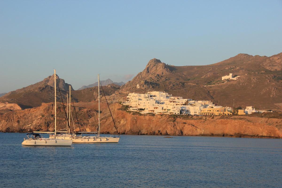 ナクソス島の夕焼けの写真