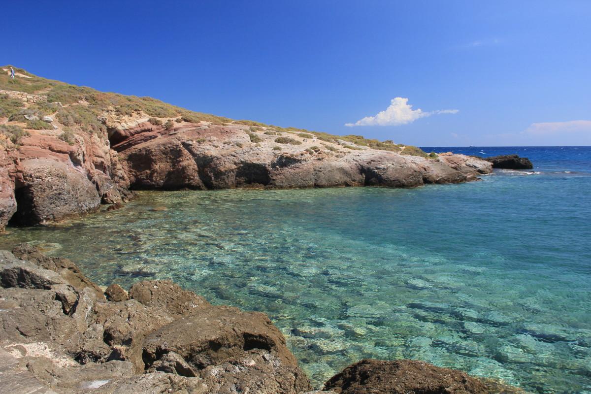 パラティア島の海