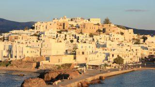 ギリシャ6/ナクソス島夕焼けの写真