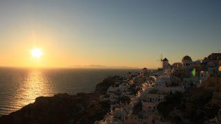 ギリシャ11/サントリーニ島/イアの午後~夕焼け