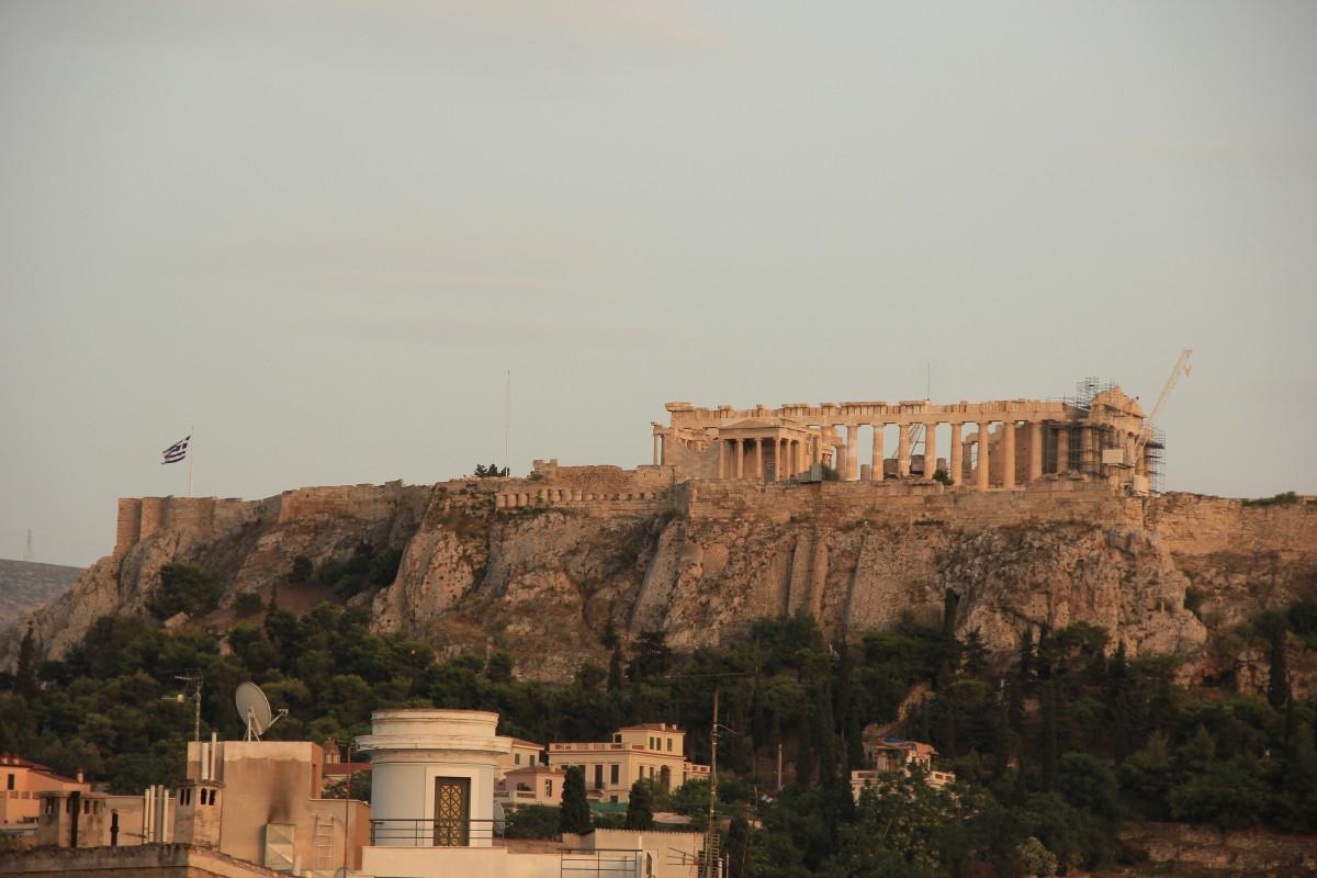 パルテノン神殿夕景