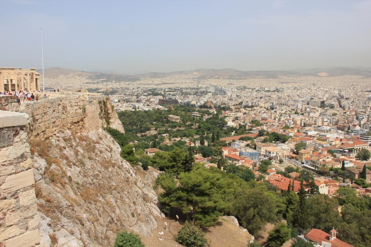 アクロポリスから見たアテネ
