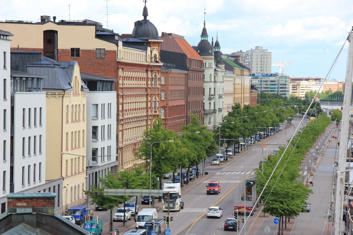 ヘルシンキの街並み