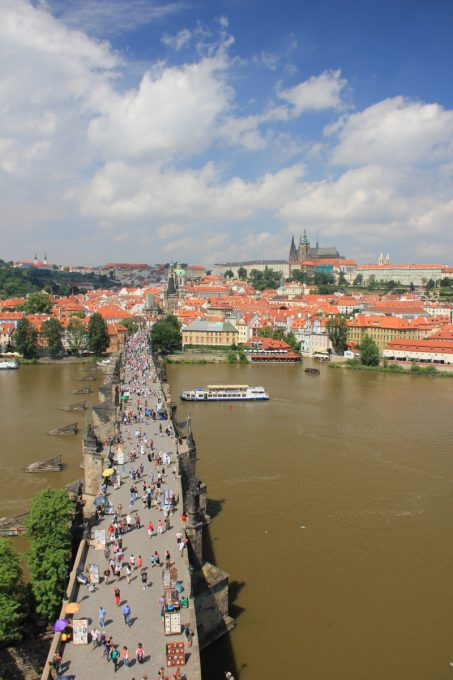橋の塔からの景色