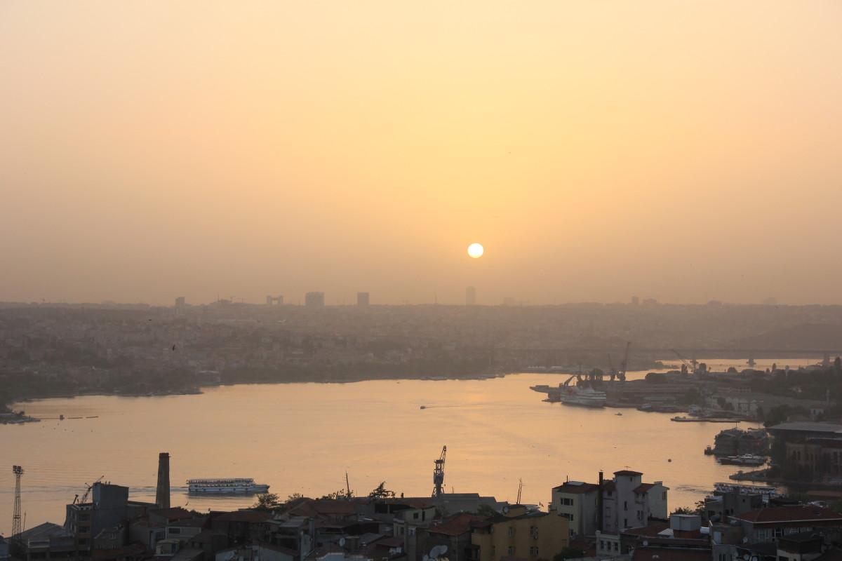 ガラタ塔からの夕焼け