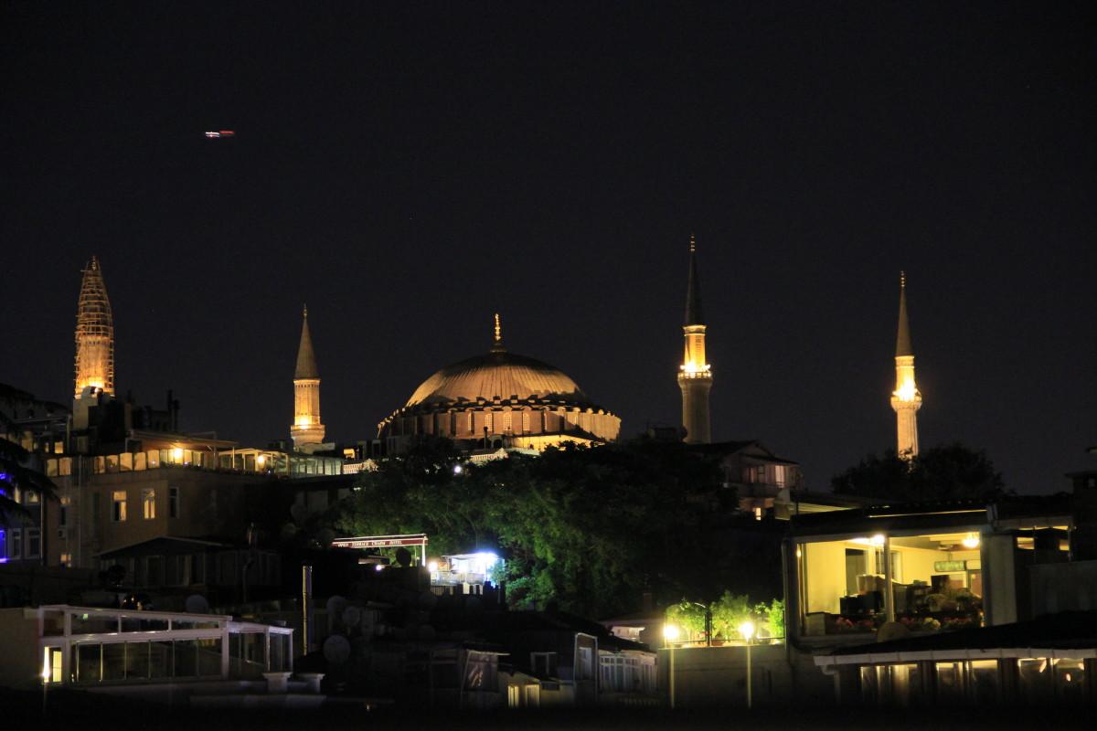 アヤソフィア夜景