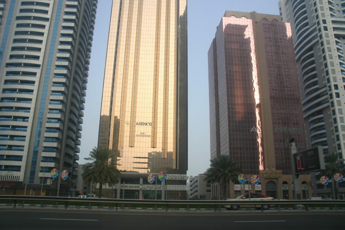 ドバイの高層ビル群