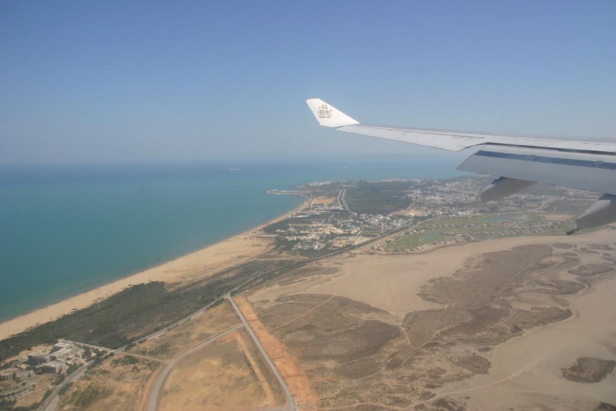 チュニジア着陸