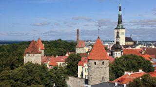バルト海クルーズ エストニア/タリン旧市街のトームペア地区